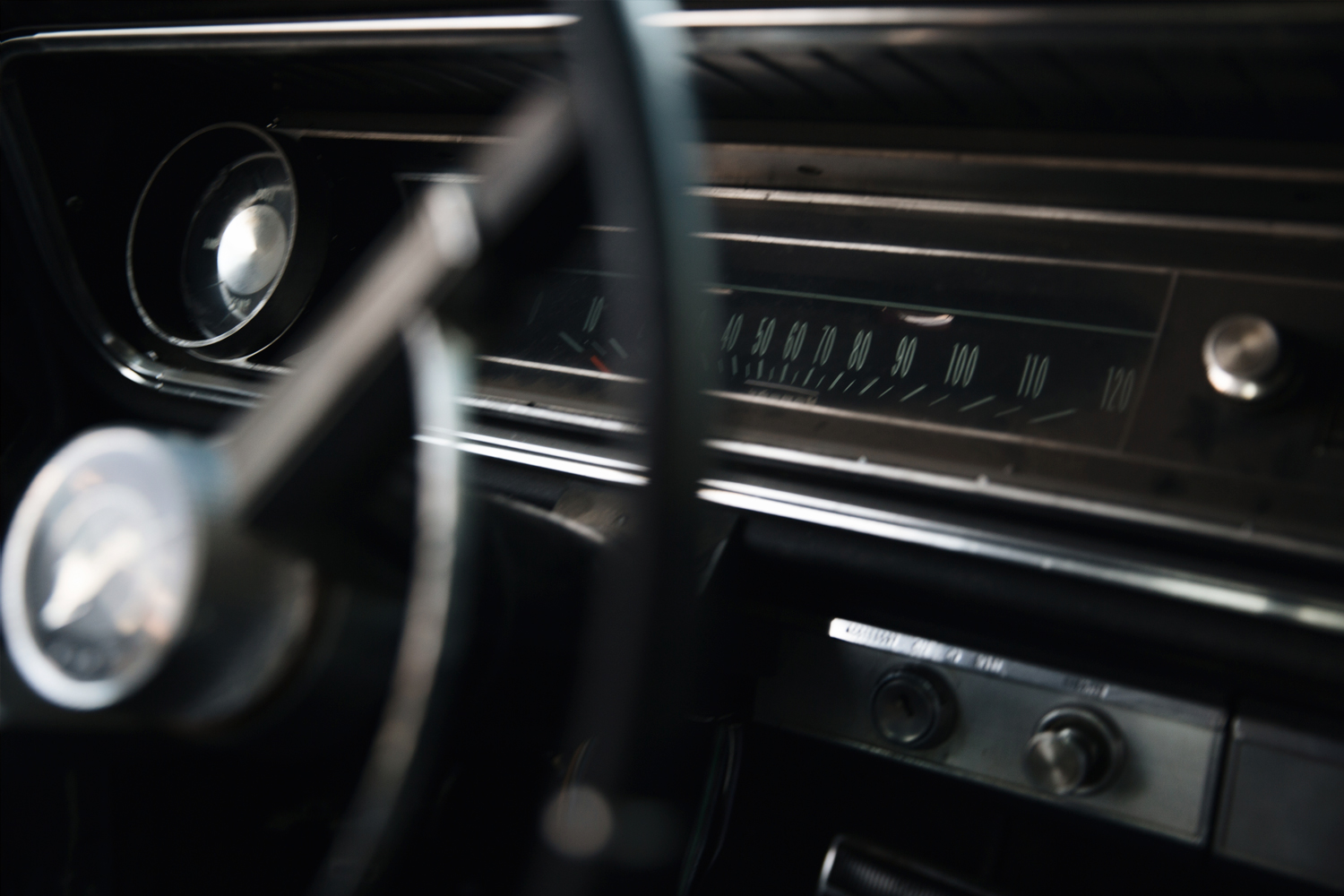 An old Impala SS from inside