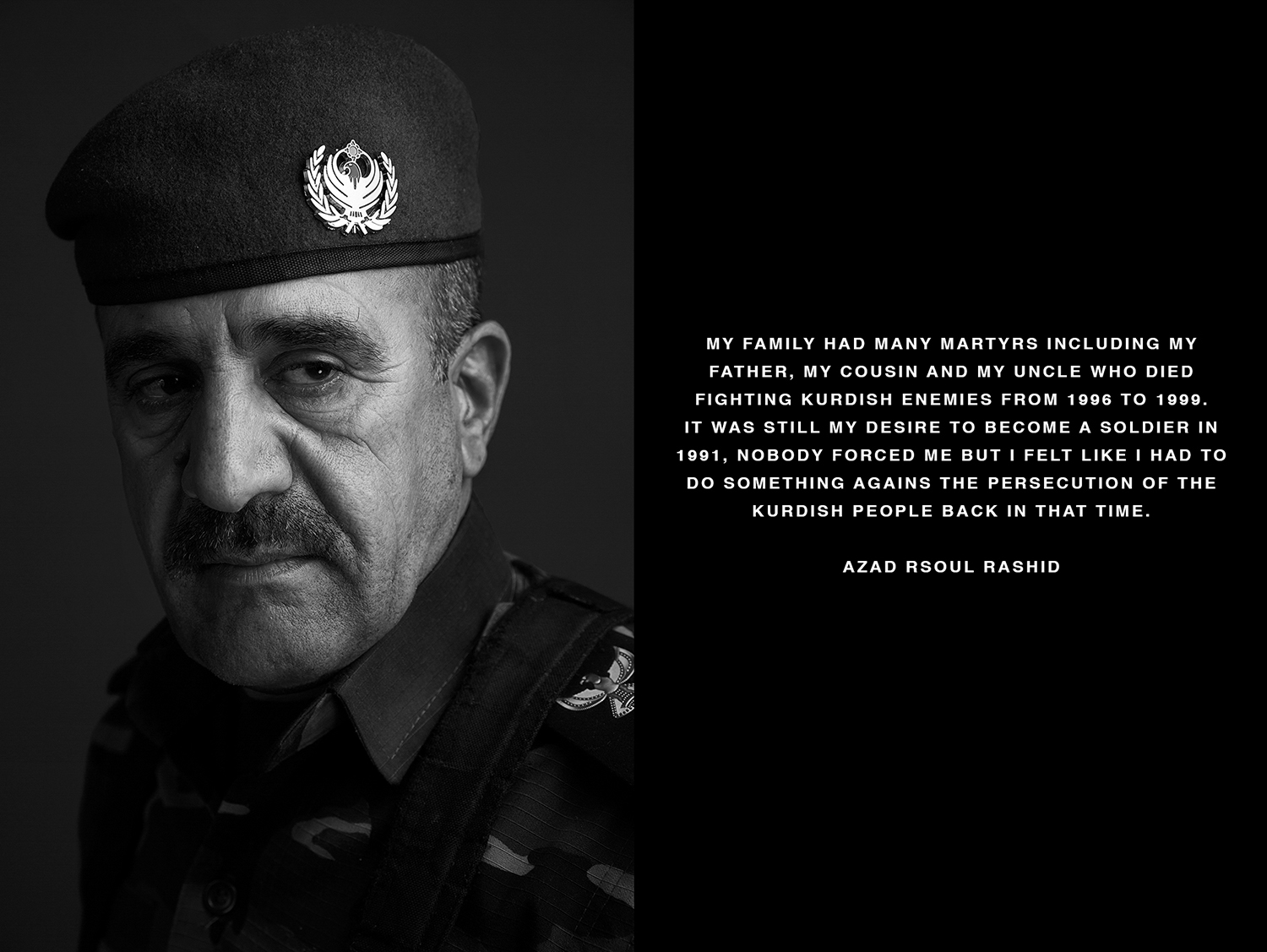 Portrait of a Peshmerga soldier