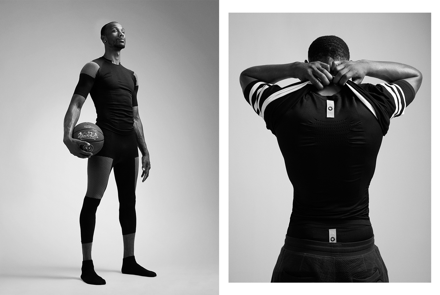Two outfit shots of a Veniceball League player with in an Adidas outfit photographed by Maximilian Baier