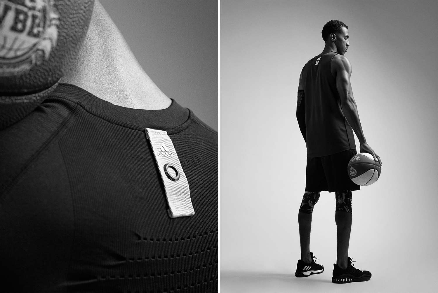 A detail shot and an outfit shot of a Veniceball League player with in an Adidas outfit photographed by Maximilian Baier
