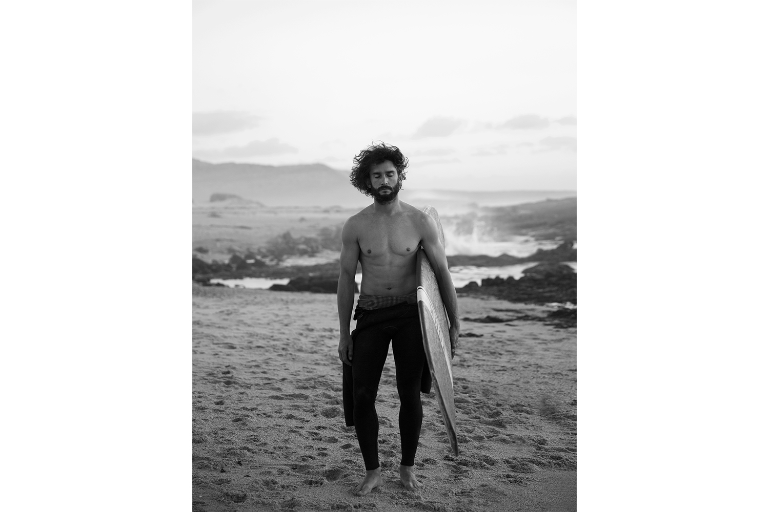 Surfer photographed in Capetown, South Africa.